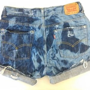 Acid Wash look jean shorts